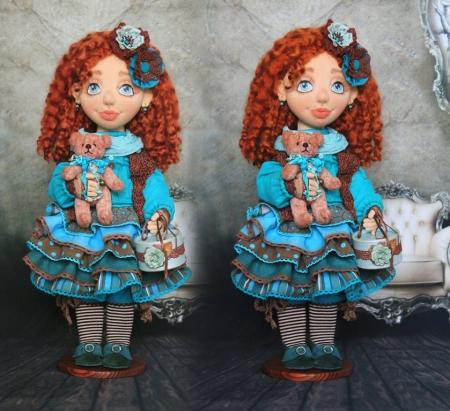 Коллекционная кукла Викки 40 см