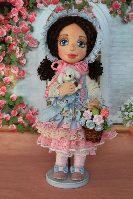 Коллекционная кукла Настенька 42 см