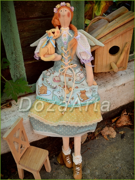 Тильда кукла Эля и Бориска 45 см