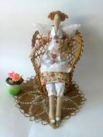 Саманта с гусиком - фея домашнего уюта 40см