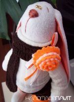 Шоколадно-апельсиновый зайчик Макс 36 см