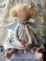 Принцесса на горошине Лаванда с розой 33 см