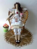 Розамунда - дама с собачкой (фея домашнего уюта) 40 см