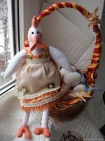 Тильда Курочка-несушка  30 см