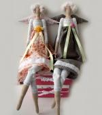 Фея-Крестная платье в цветочек 50 см