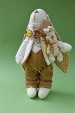 Заяц Маттиас с другом 23 см