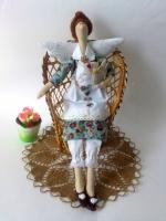 Катерина с гусиком - фея домашнего уюта 40 см