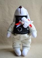 Зайчонок Банни в вельветом костюмчике 21 см