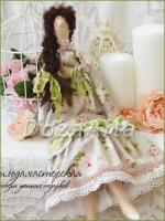 Кукла-тильда Арника, северная сказка 45 см
