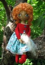 "Кукла ""Агнес и голубь"" 33см"