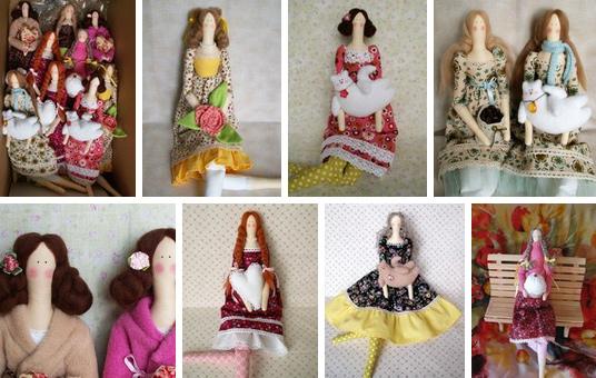 Купить интерьерную куклу-Тильда ручной работы в Москве и Санкт-Петербурге